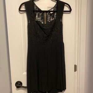 Size 2 - Floral lace black mini dress